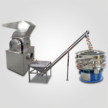 Chemical grinding, conveying, screening line
